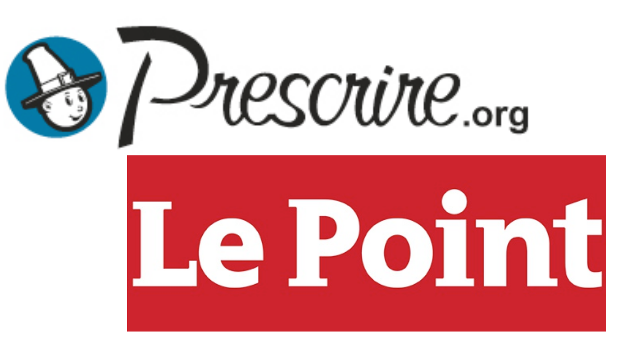 Logo de Prescrire et du Point